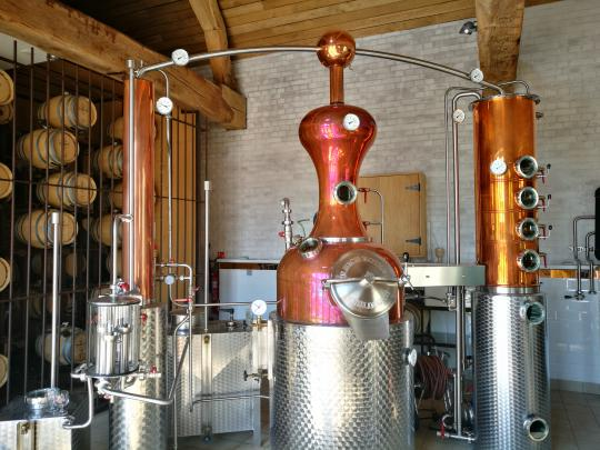 Micro-distillery of Mont-Saint-Jean Farm
